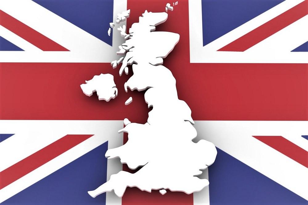 UK map and flag UK holiday staycation ideas