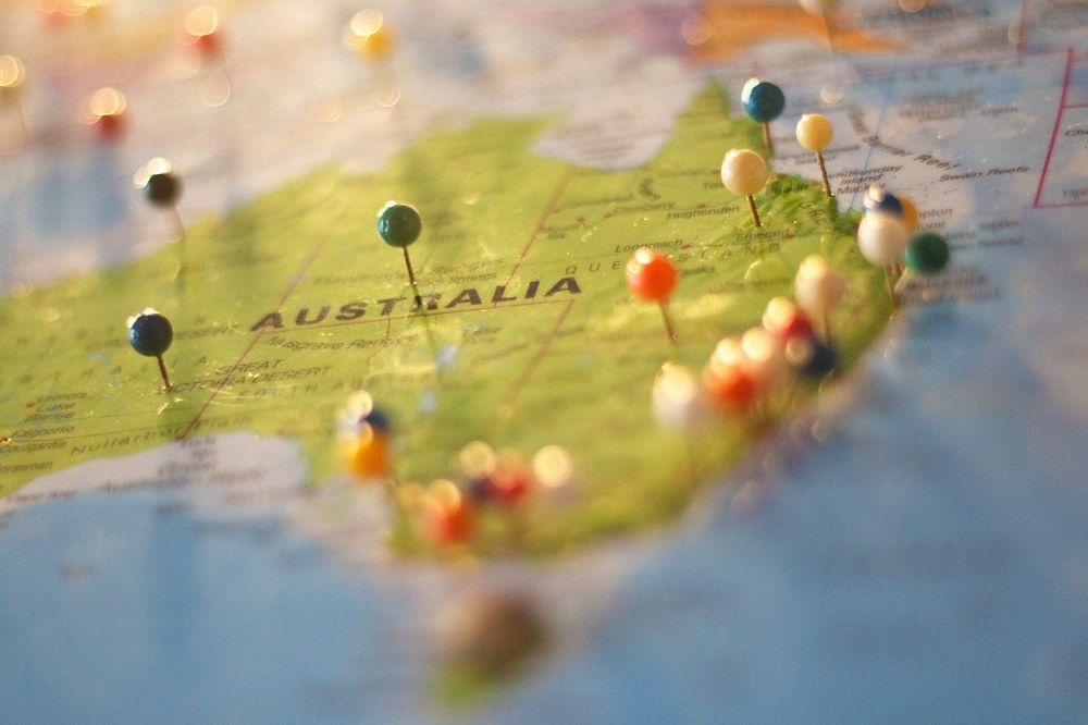 Planning youyr dream holiday - Australia map