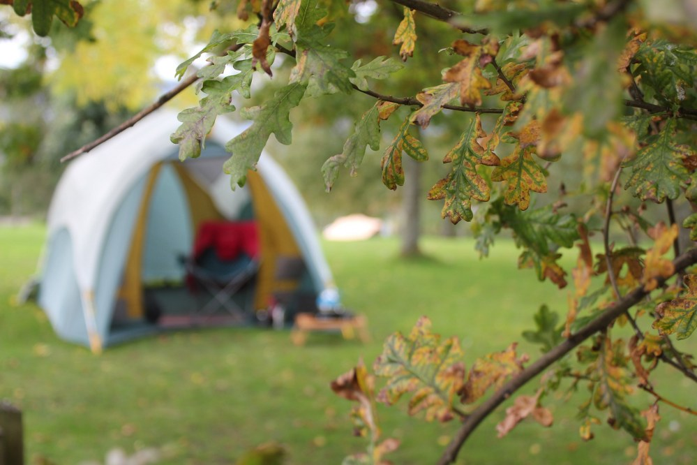 campervan holiday for single parents - tent in Cumbria campsite
