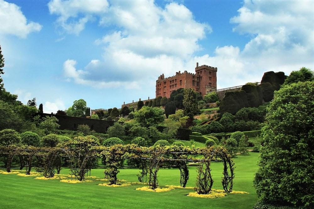 Powis Castle in North Wales