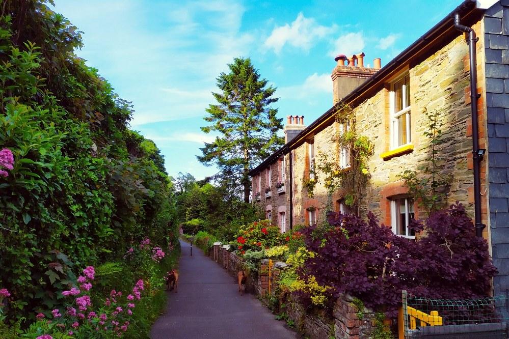 Lynton village on the Exmoor Coast in North Devon