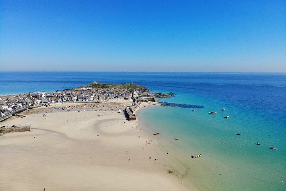 beach in St. Ives in Cornwall