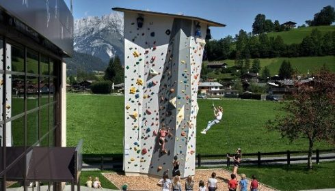 climbing tower at Hotel Lisi
