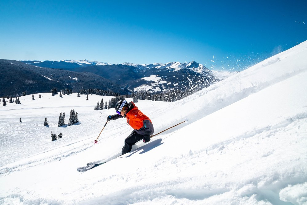 skier during covid restrictions