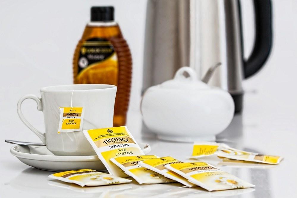 camomile tea to help against anxieties