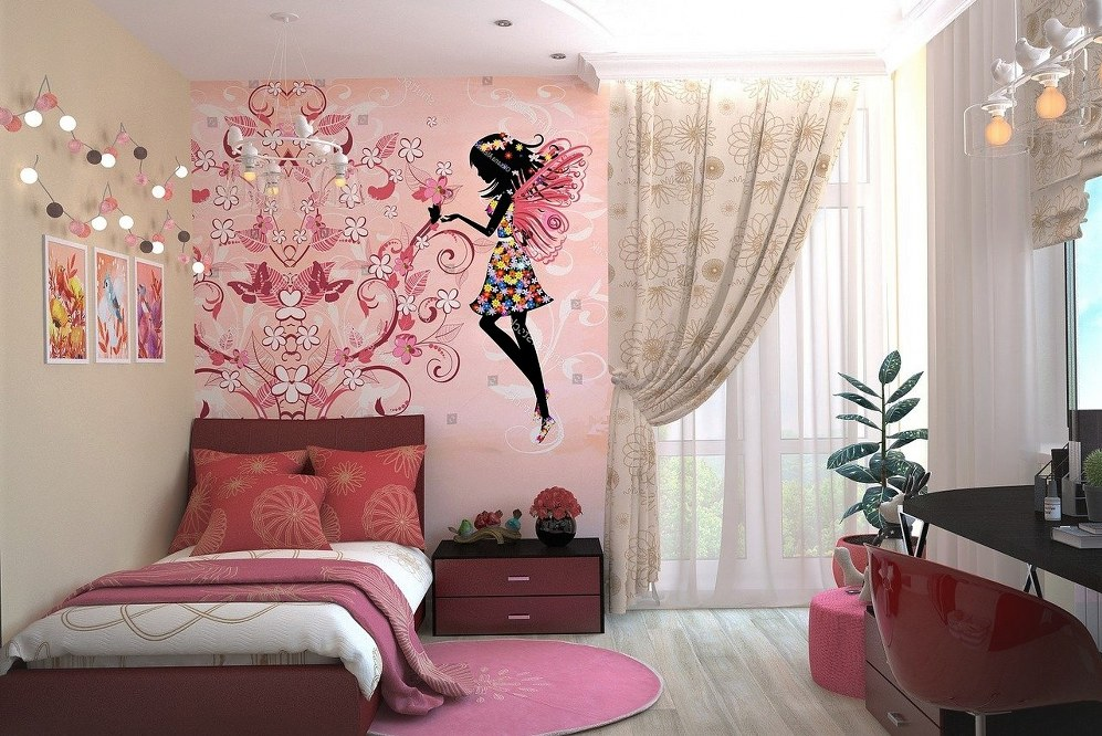 newly designed girl's bedroom on a budget