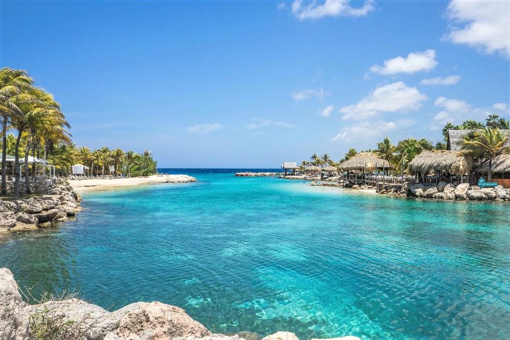 lagoon in the Caribbean