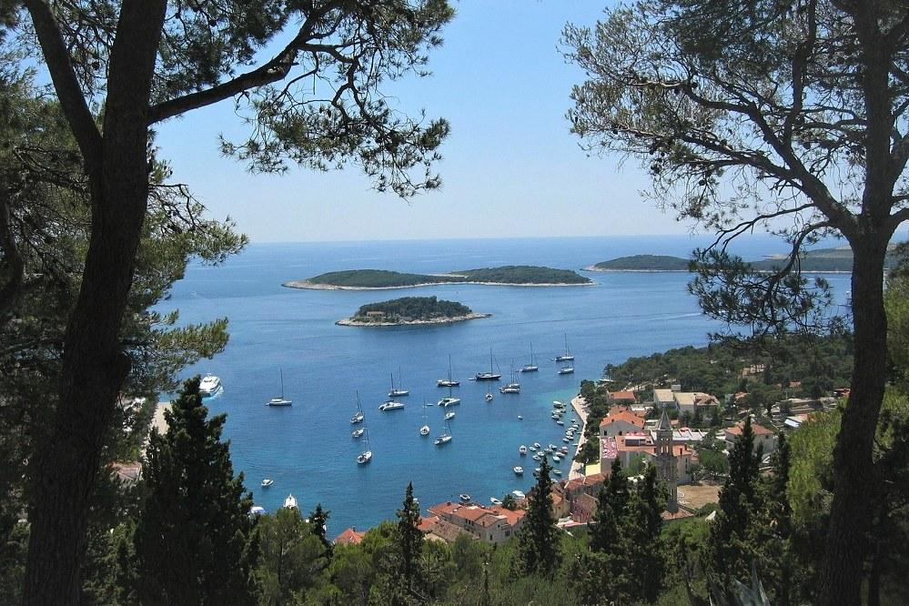 Dalmatian coastline in Croatia