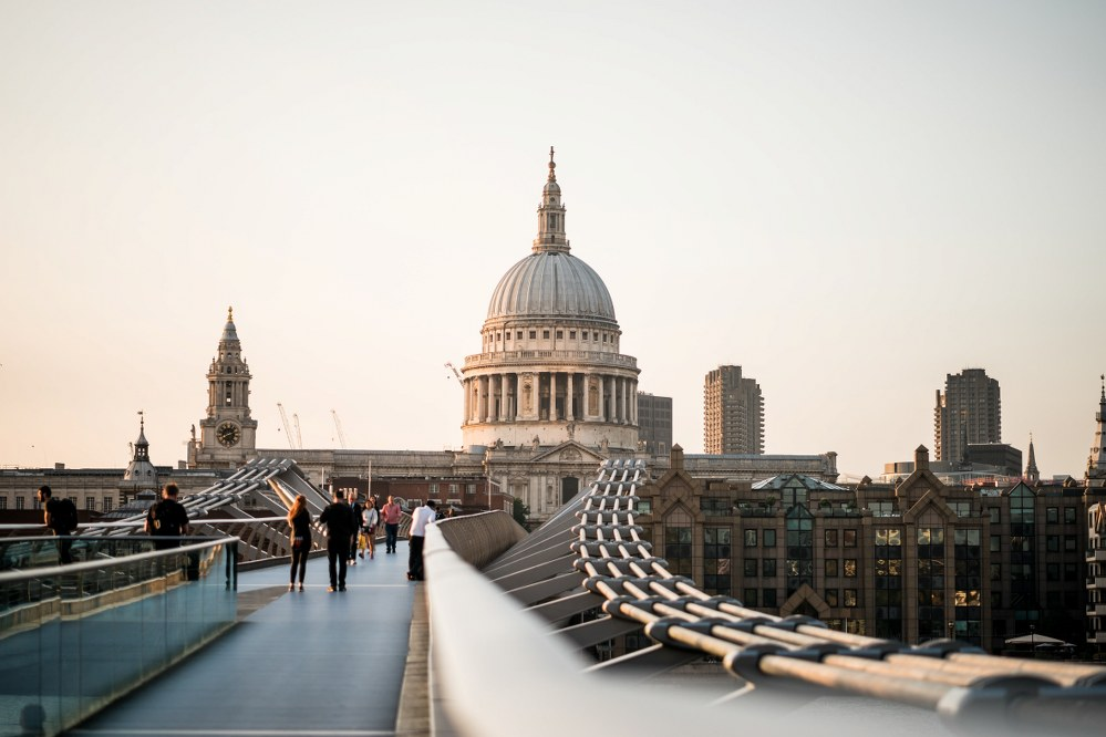 St. Paul's Cathedral viewed from the Millennium Bridge