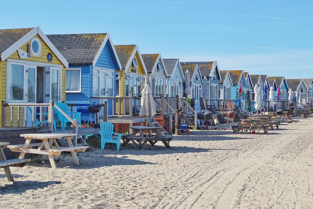 beach huts in England - holidays with kids - holidays UK