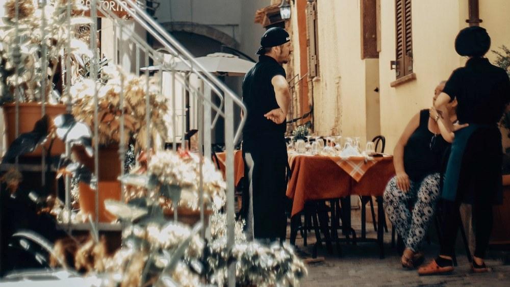 restaurant chef in Sardinia