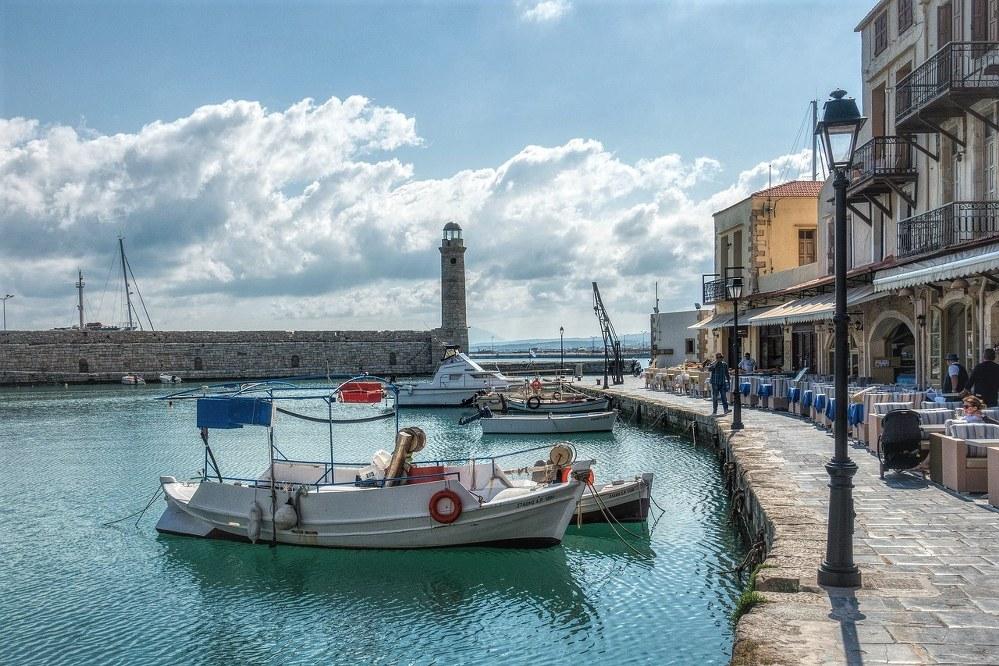 Port of Rethymno in Crete
