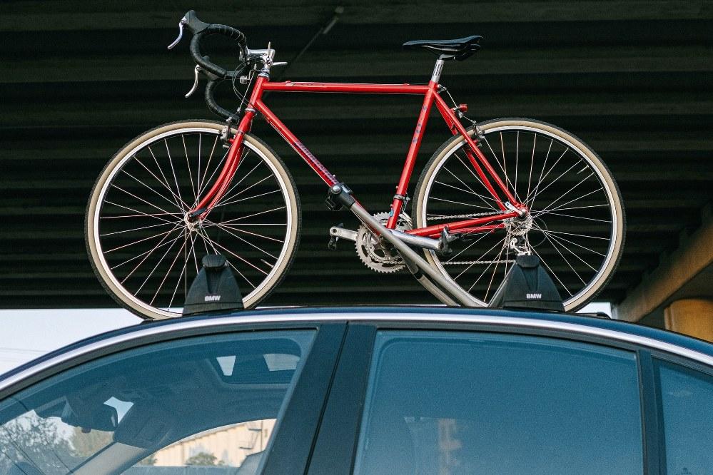 bicycle on car rack