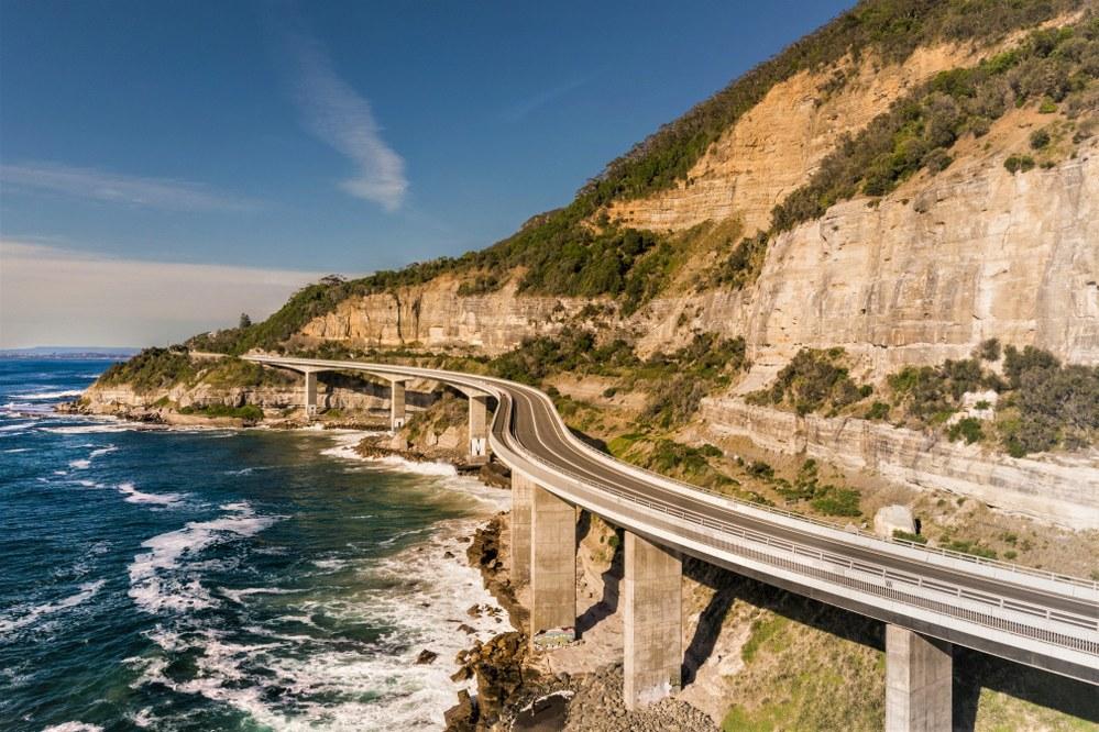 The Sea Cliff Bridge, NSW.
