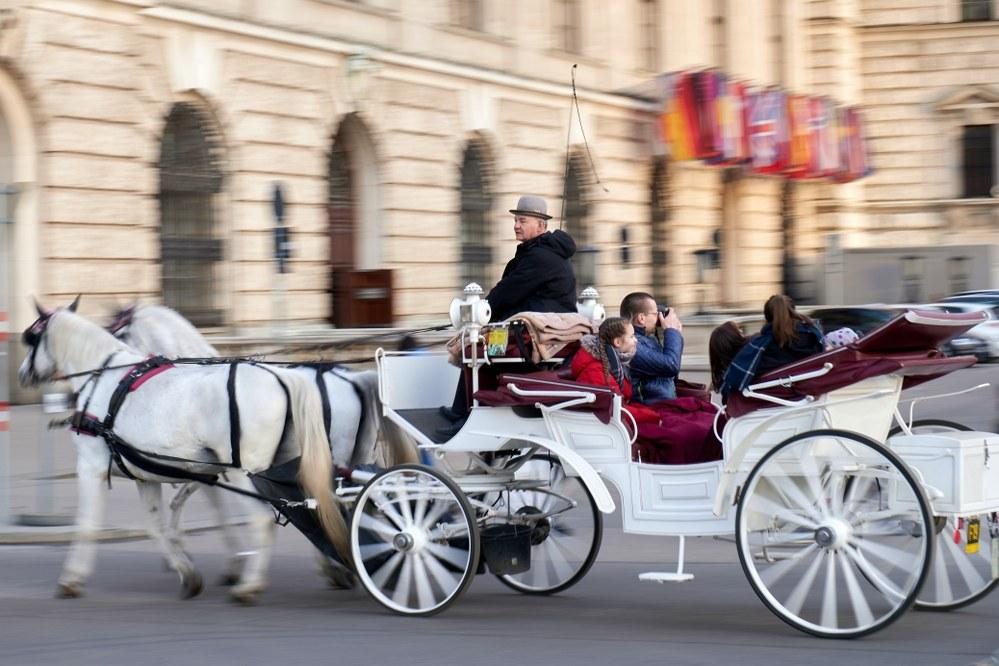 Fiaker ride across Vienna