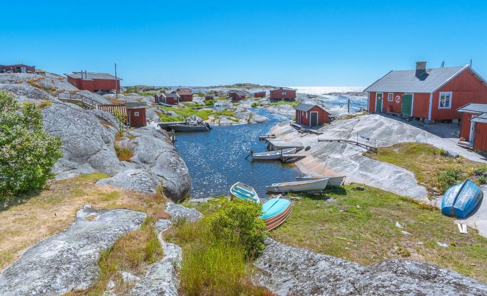 Huvudskär archipelago island near Stockholm