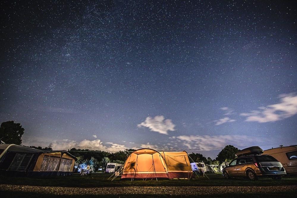 campsite in Dorset