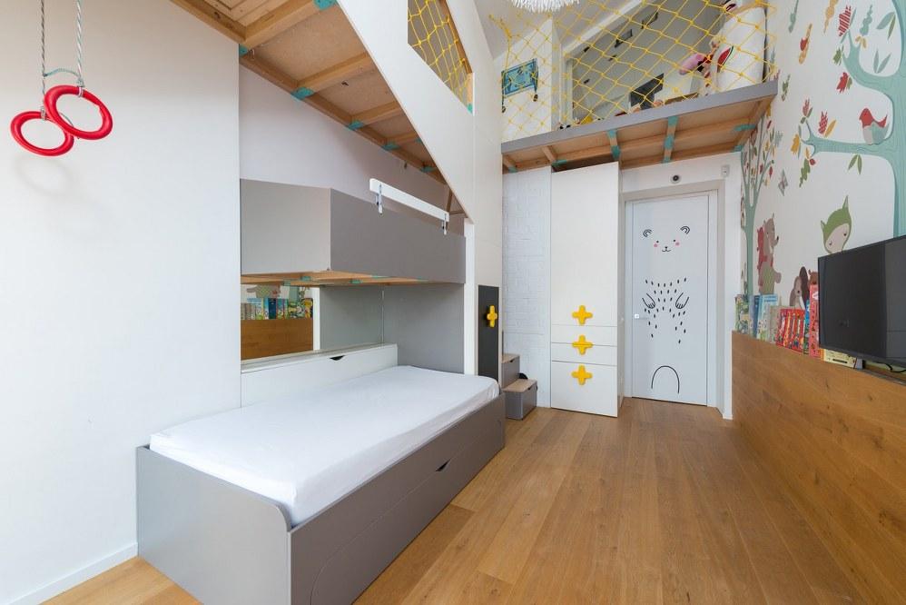 cool bed in kids bedroom